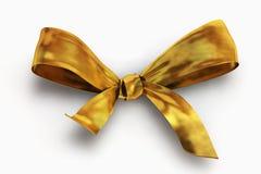 Arqueamiento del oro aislado en blanco fotos de archivo libres de regalías