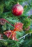 Arqueamiento rojo Decoración del Año Nuevo Foto de archivo