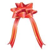 Arqueamiento rojo del regalo Imágenes de archivo libres de regalías