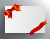 Arqueamiento rojo en la esquina Vector Imágenes de archivo libres de regalías