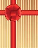 Arqueamiento rojo mullido sobre rayas Imágenes de archivo libres de regalías