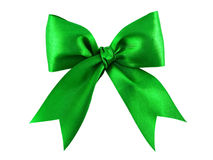 Arqueamiento verde del regalo del satén Foto de archivo
