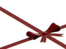 Arqueamiento y cinta rojos del terciopelo Fotografía de archivo