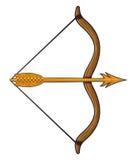 Arqueamiento y flecha Imagen de archivo libre de regalías