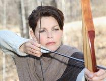 Arqueamiento y flecha Foto de archivo libre de regalías