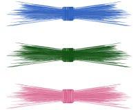 Arqueamientos de la paja de la rafia para el verano ilustración del vector