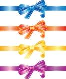 Arqueamientos multicolores y cintas fijados Imágenes de archivo libres de regalías