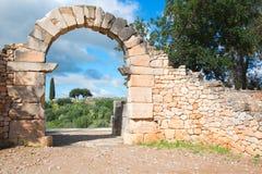 Arquee en Volubilis, ciudad romana antigua de Marruecos Fotografía de archivo