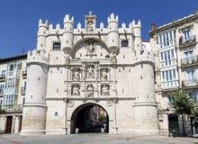 Arqueie a entrada de Santa Maria à cidade da Espanha de Burgos Imagens de Stock Royalty Free
