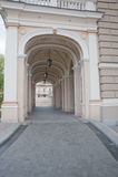 Arqueie a entrada de um edifício de uma ópera Fotos de Stock Royalty Free
