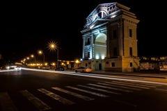 Arqueie portas de Moscou na margem da cidade Irkutsk imagens de stock royalty free