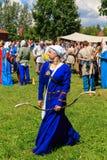 Arqueiro da mulher Imagens de Stock Royalty Free