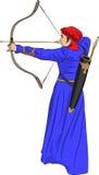 Arqueiro da mulher do vetor Foto de Stock Royalty Free