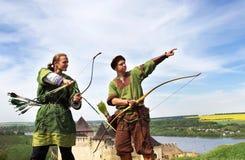Arqueiros Foto de Stock Royalty Free