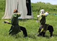 Arqueiros medievais Imagens de Stock Royalty Free