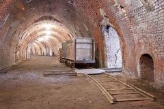 Horno interior de los ladrillos Fotos de archivo