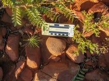 Arqueología - piedra de molino in situ foto de archivo libre de regalías