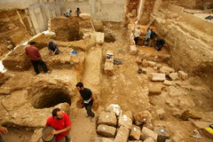 Arqueología urbana Fotos de archivo libres de regalías