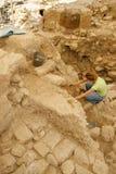 Arqueología urbana foto de archivo