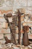 Arqueología militar Imagen de archivo libre de regalías