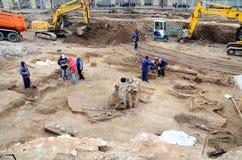 Arqueología urbana - Bucarest Foto de archivo libre de regalías