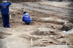 Arqueologia urbana - Bucareste Foto de Stock Royalty Free