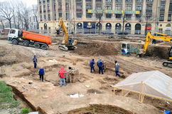 Arqueologia urbana - Bucareste Fotos de Stock Royalty Free