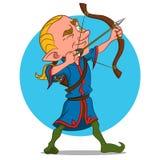 Arquero de Elven Foto de archivo libre de regalías