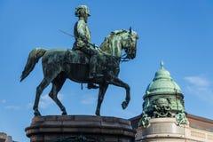 Arquiduque equestre Albrecht da estátua perto de Albertina foto de stock