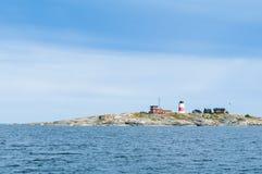 Arquipélago de Éstocolmo do farol de Soederarm Imagens de Stock
