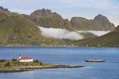 Arquipélago de Lofoten, ilha de Austvagoya, foto de stock royalty free
