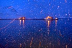 Arquipélago de Lofoten, Noruega no tempo de inverno imagens de stock royalty free