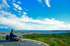 Arquipélago de Stora Rös em Gothenburg, Suécia imagem de stock
