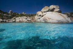 Arquipélago do La Maddalena, Sardinia imagem de stock