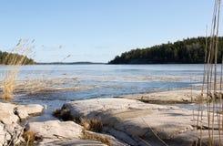 Arquipélago em Éstocolmo. fotografia de stock royalty free