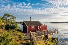 Arquipélago na costa de mar Báltico imagens de stock