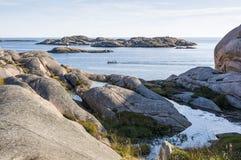 Arquipélago sueco da costa oeste da opinião do arquipélago foto de stock
