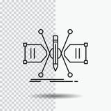 Arquitecto, construyendo, rejilla, bosquejo, línea icono de la estructura en fondo transparente Ejemplo negro del vector del icon ilustración del vector