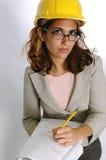 Arquitecto de sexo femenino Fotos de archivo