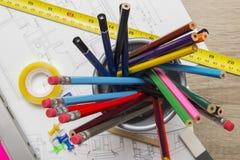 Arquitecto Desk Fotos de archivo libres de regalías