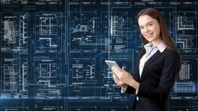 Arquitecto Engineer Construction Design de la empresaria y concepto del negocio Imagen de archivo libre de regalías