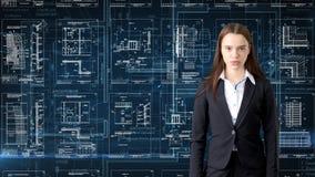Arquitecto Engineer Construction Design de la empresaria y concepto del negocio Imagen de archivo