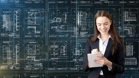 Arquitecto Engineer Construction Design de la empresaria y concepto del negocio Fotografía de archivo libre de regalías