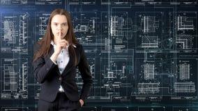 Arquitecto Engineer Construction Design de la empresaria y concepto del negocio Fotografía de archivo