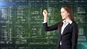 Arquitecto Engineer Construction Design de la empresaria y concepto del negocio Imágenes de archivo libres de regalías