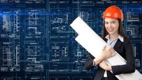 Arquitecto Engineer Construction Design de la empresaria y concepto del negocio Fotos de archivo