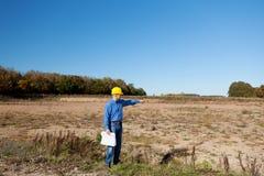 Arquitecto Examining Construction Site Fotos de archivo