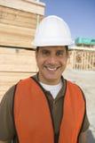 Arquitecto feliz At Construction Site Fotografía de archivo libre de regalías