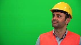 Arquitecto o trabajador de construcción Watching almacen de metraje de vídeo