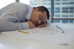 Arquitecto Sleeping foto de archivo
